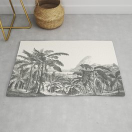Palms and Mountain Rug