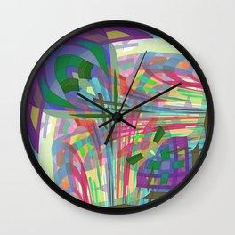 Geometry Garden Multi Colored Wall Clock