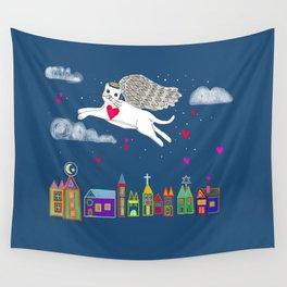Kitty Angel Wall Tapestry
