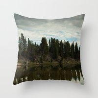 country Throw Pillows featuring Country  by Julie Luke