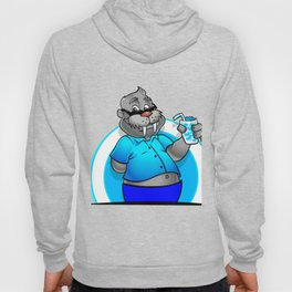 walrus with cup Hoody