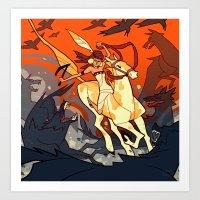 western Art Prints featuring Western by Jemma Salume