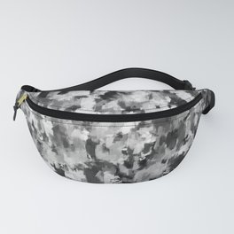 black and white pattern - paint brush design Fanny Pack