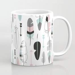 Arrows and feathers summer pattern Coffee Mug