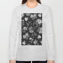 Vintage flowers on black Long Sleeve T-shirt
