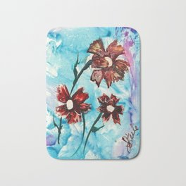 Brown flowers Bath Mat
