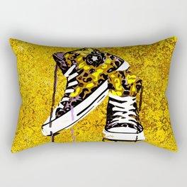 Animal Print Tennis Shoes Take a Walk On The Wild Side Rectangular Pillow