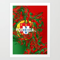 portugal Art Prints featuring Portugal by Danny Ivan