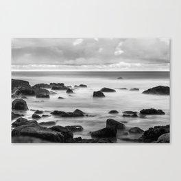 Sea in BNW Canvas Print