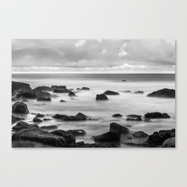 Sea in BNW Canvas Print