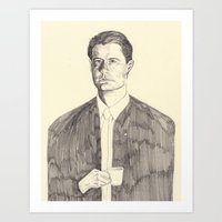 dale cooper Art Prints featuring Dale Cooper by withapencilinhand