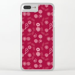 Candy cane pattern 6c Clear iPhone Case