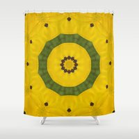 bees Shower Curtains featuring Bees by Deborah Janke