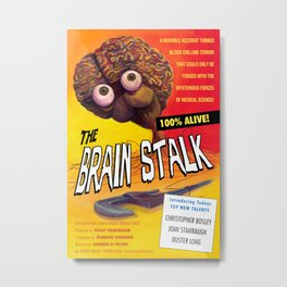 """The Brain Stalk"" Movie Poster Metal Print"