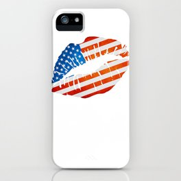 American Flag Lips iPhone Case