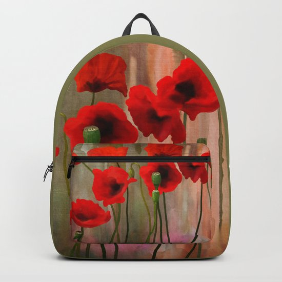 Watercolor Poppies Backpack