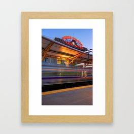 Morning Departure at Union Station in Denver LoDo District Framed Art Print