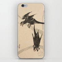bouletcorp iPhone & iPod Skins featuring Microraptors by Bouletcorp
