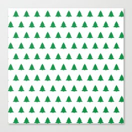 seamless green christmas tree pattern Canvas Print