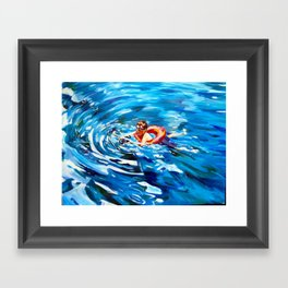 Still Swimmin' Framed Art Print