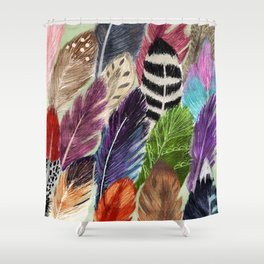 Pattern Feathers Shower Curtain
