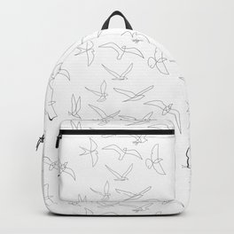 flock - linear birds pattern Backpack