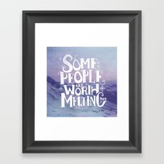Happy Snowman Alt. Framed Art Print