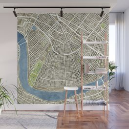 New Orleans City Map Wall Mural