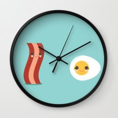 Bacon and Egg Buds Wall Clock