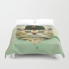 Baseball Kitten #3 Duvet Cover