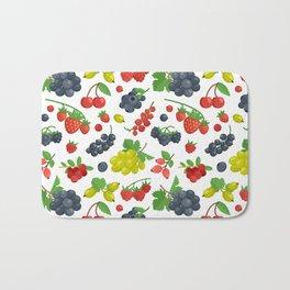 Colorful Berries Pattern Bath Mat