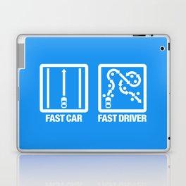 Fast Car - Fast Driver v4 HQvector Laptop & iPad Skin