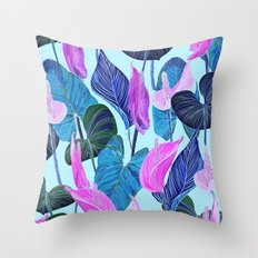 Lush Lily - cool brights Throw Pillow