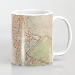 Vintage map of Amsterdam (1560) Coffee Mug