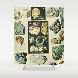 Vintage Minerals Chart Shower Curtain