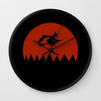 witch Wall Clocks featuring Witch by Cs025