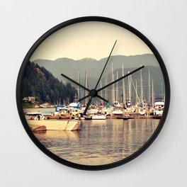 deep cove harbor Wall Clock