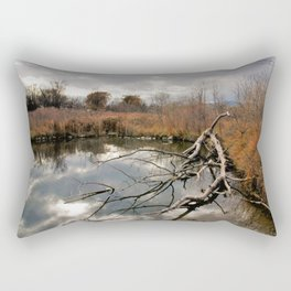 Cloudy day in the Colorado Foothills Rectangular Pillow