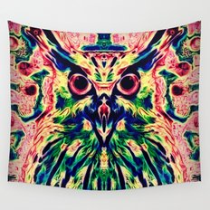 Psychedelic Owl Wall Tapestry
