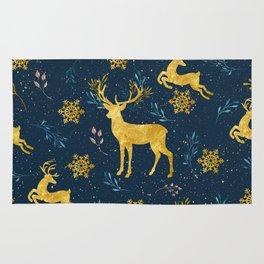 Golden Reindeer Rug