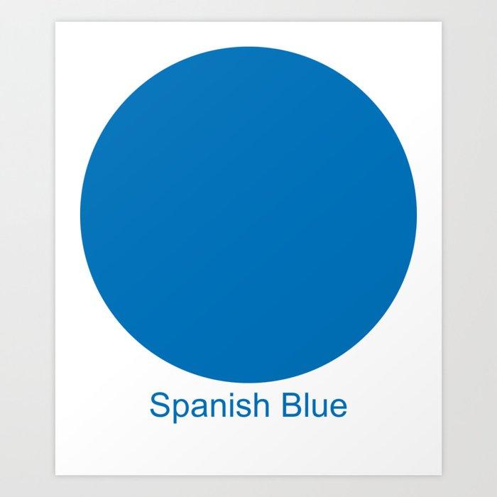 Spanish Blue Art Print