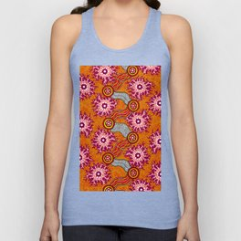 Aboriginal Art Authentic – Journey 2 Unisex Tank Top