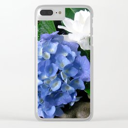 Hydrangea and Gardenias in a Southern Garden Clear iPhone Case