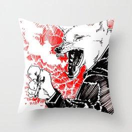 smoke wolf Throw Pillow