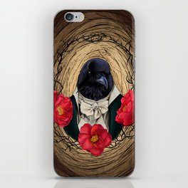 The Count with camellias iPhone Skin
