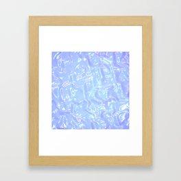 Baby Blue Waves Framed Art Print