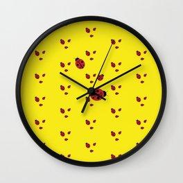 Lady-pattern-bug Wall Clock