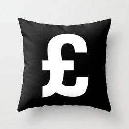 Pound Sign (White & Black) Throw Pillow