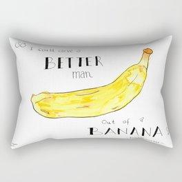 """""""I Could Carve a Better Man Out of a Banana"""" Kurt Vonnegut Quote Rectangular Pillow"""