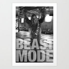 Chewbacca Beast Mode Gym Poster Art Print